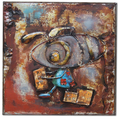 Handcrafted  metal Art Painting  100X100 cm SOAP018 - ebarza