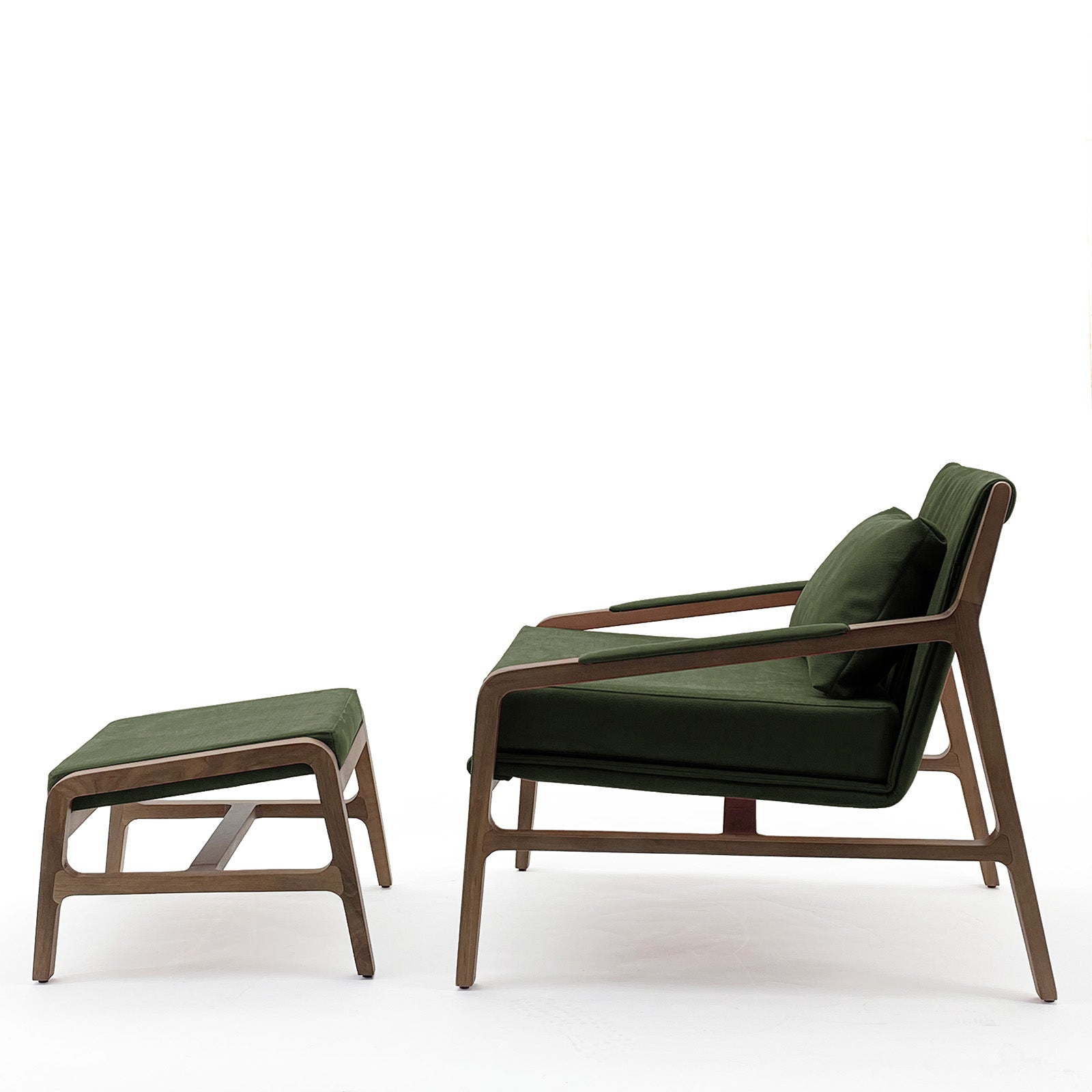 Nordic  solid wood lounge chair and ottoman   Nordic-001-GREEN(ROSE Berger)