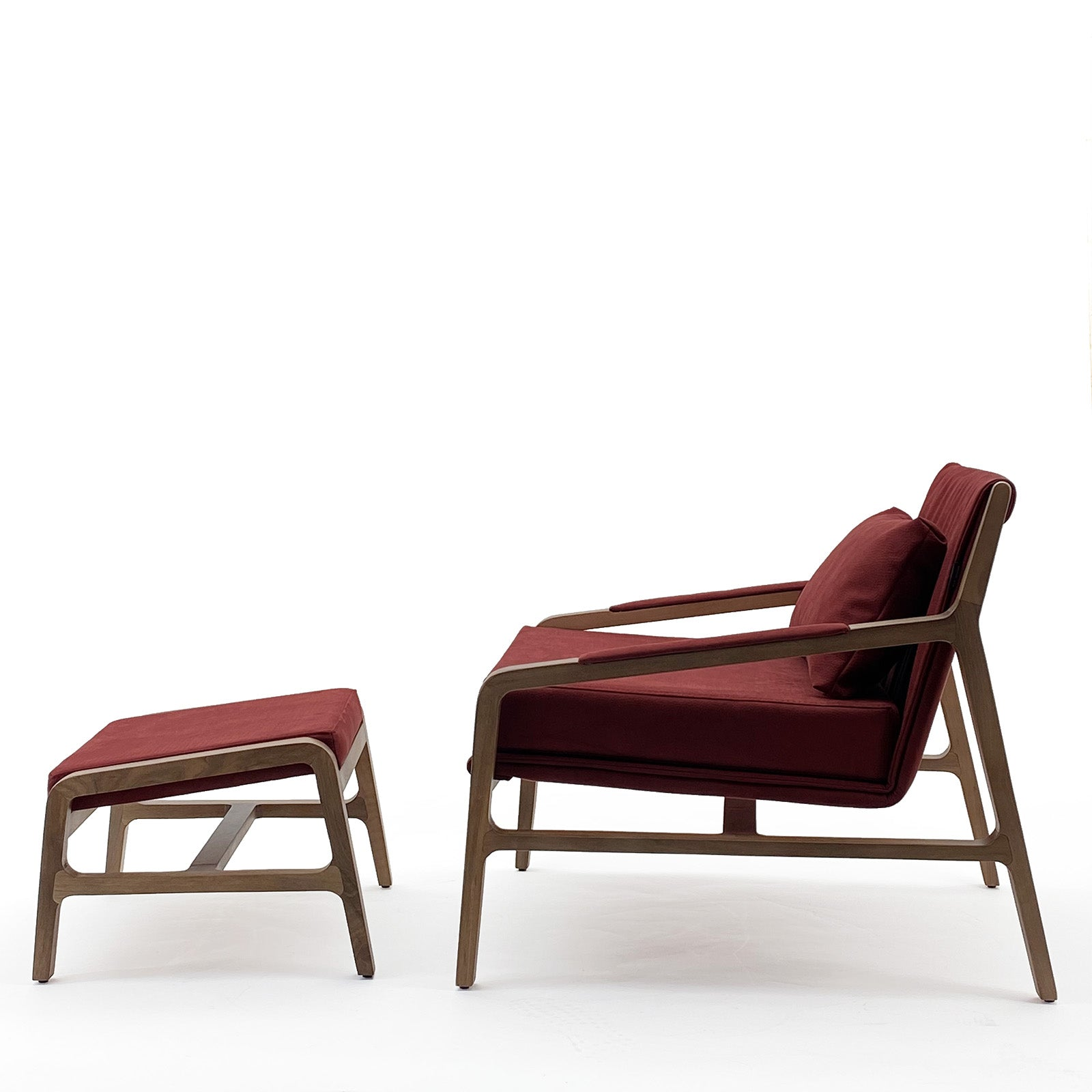 Nordic  solid wood lounge chair and ottoman   Nordic-001-R(ROSE Berger)