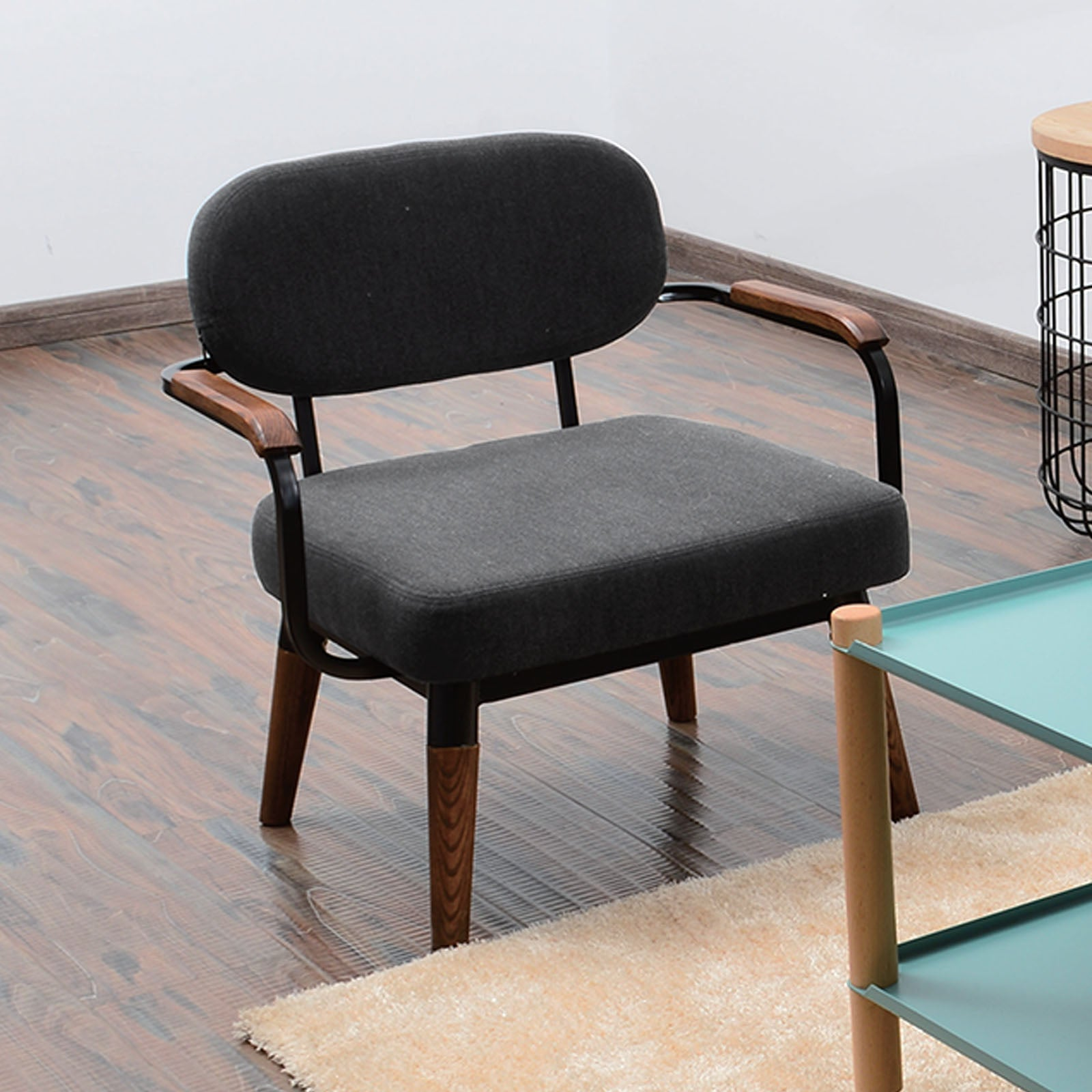 Mid Century Armchair SF-085-BW -  كرسي ببذراعين ميد سينشري - Shop Online Furniture and Home Decor Store in Dubai, UAE at ebarza