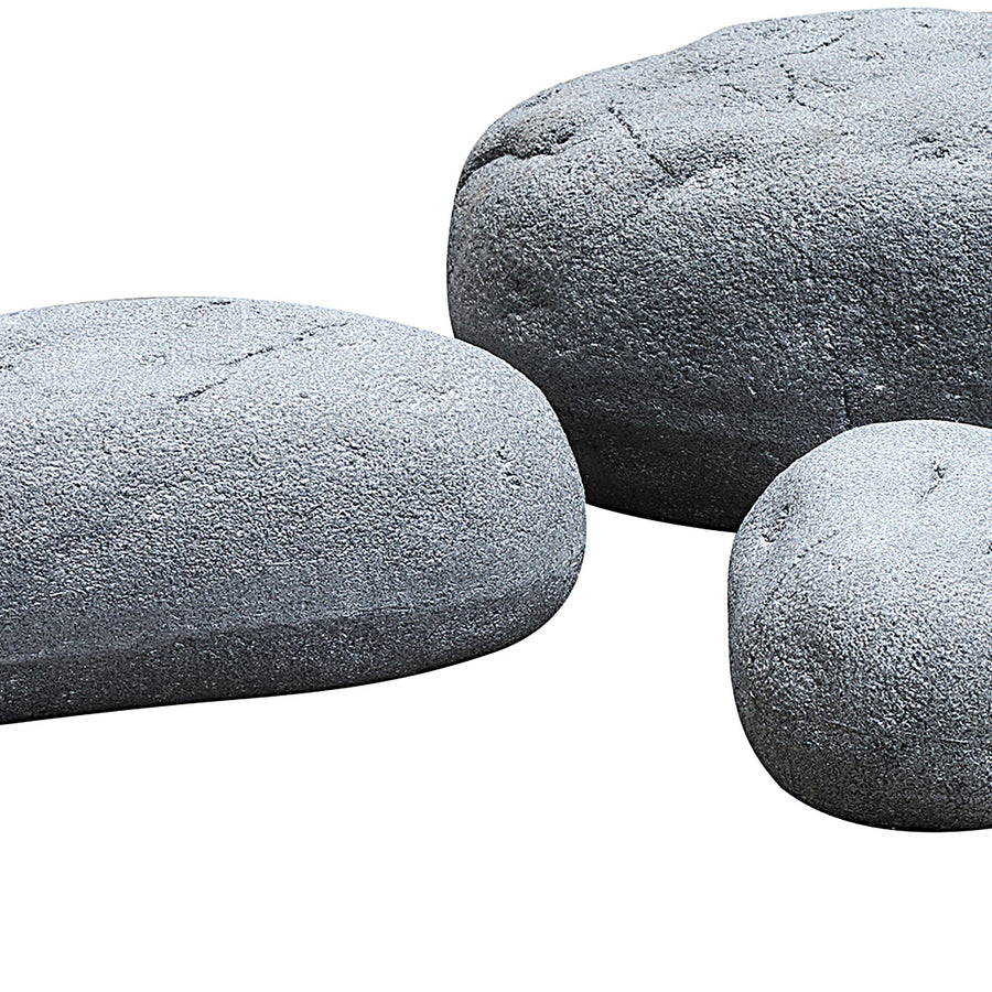 Set of 4 outdoor/indoor Fiberglass concrete decorative rocks/ stool  XK-5040A+B+C