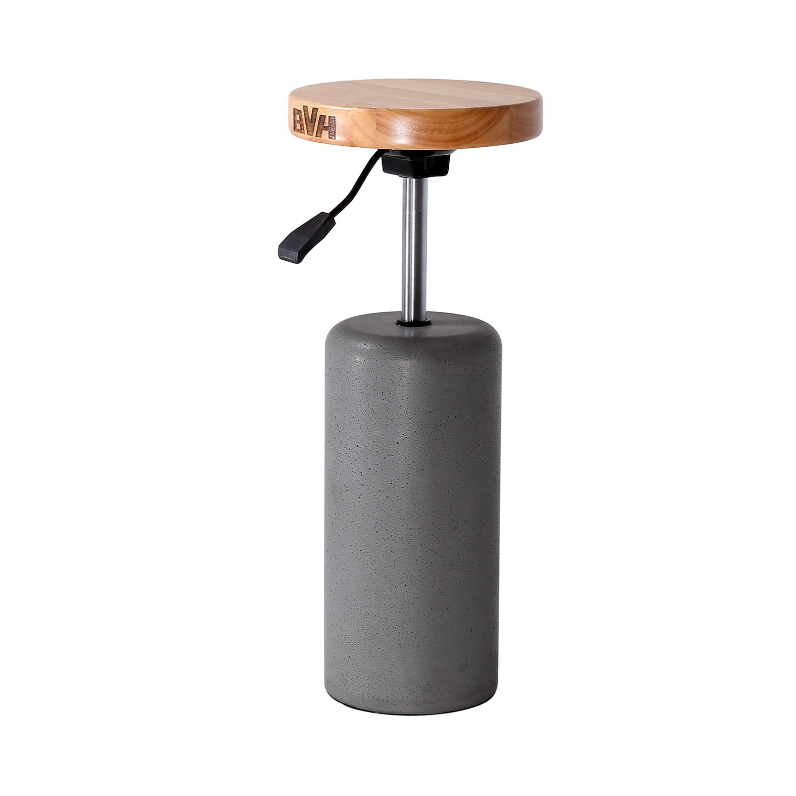 Concrete Adjustable height bar stool   BC8521-Greywithholes -  كرسي بار بارتفاع قابل للتعديل من الخرسانة - Shop Online Furniture and Home Decor Store in Dubai, UAE at ebarza