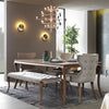 Pre-Order 20 days delivery  HERMES  dining table + 6 chairs  HER001