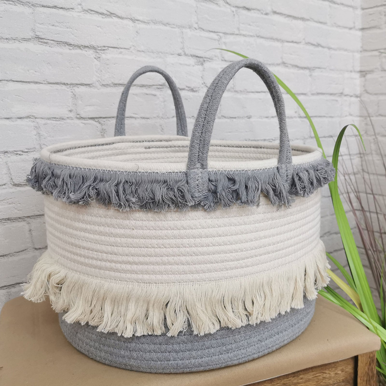 Handmade Basket 190410-011 -  سلة مصنوعة يدويا - Shop Online Furniture and Home Decor Store in Dubai, UAE at ebarza