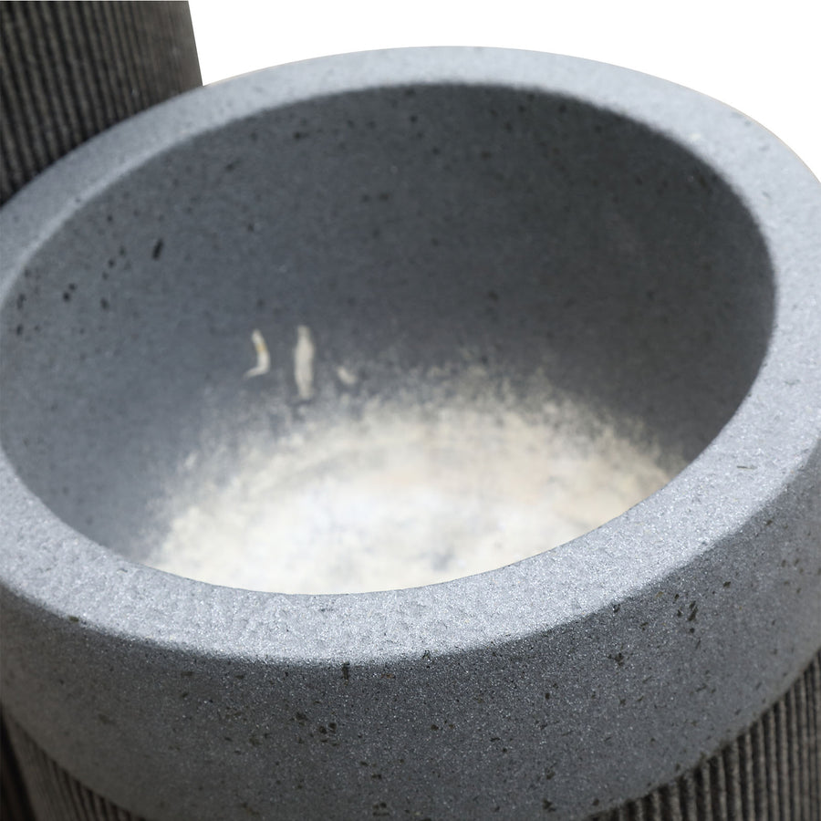 Set of 3 outdoor/indoor Fiberglass concrete Planter box XK-5014A+B+C