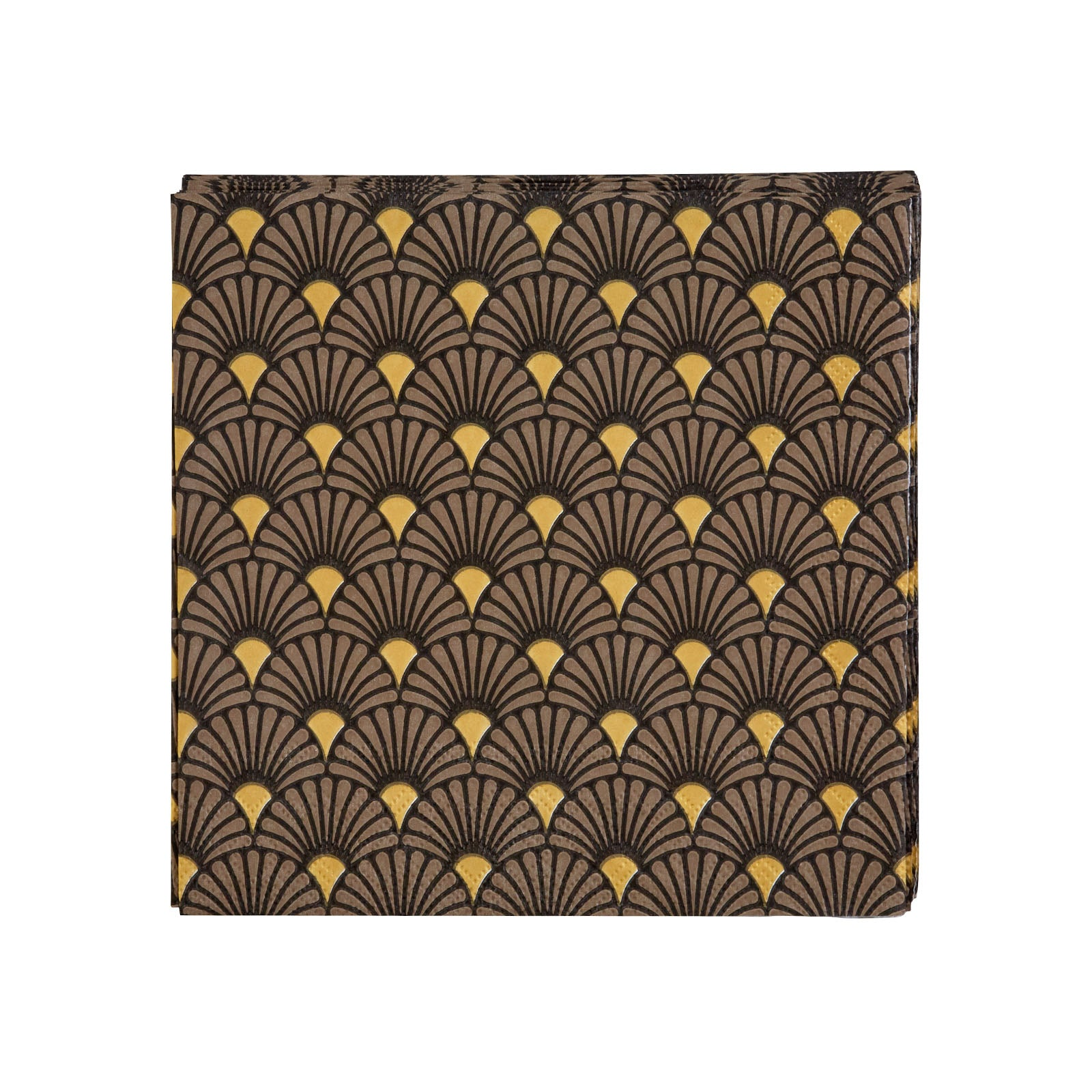 Karaca Art Deco Black / gold Napkin 153.19.01.1232