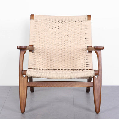 Solid Wood and Cord Lounge Chair  WS-086-W