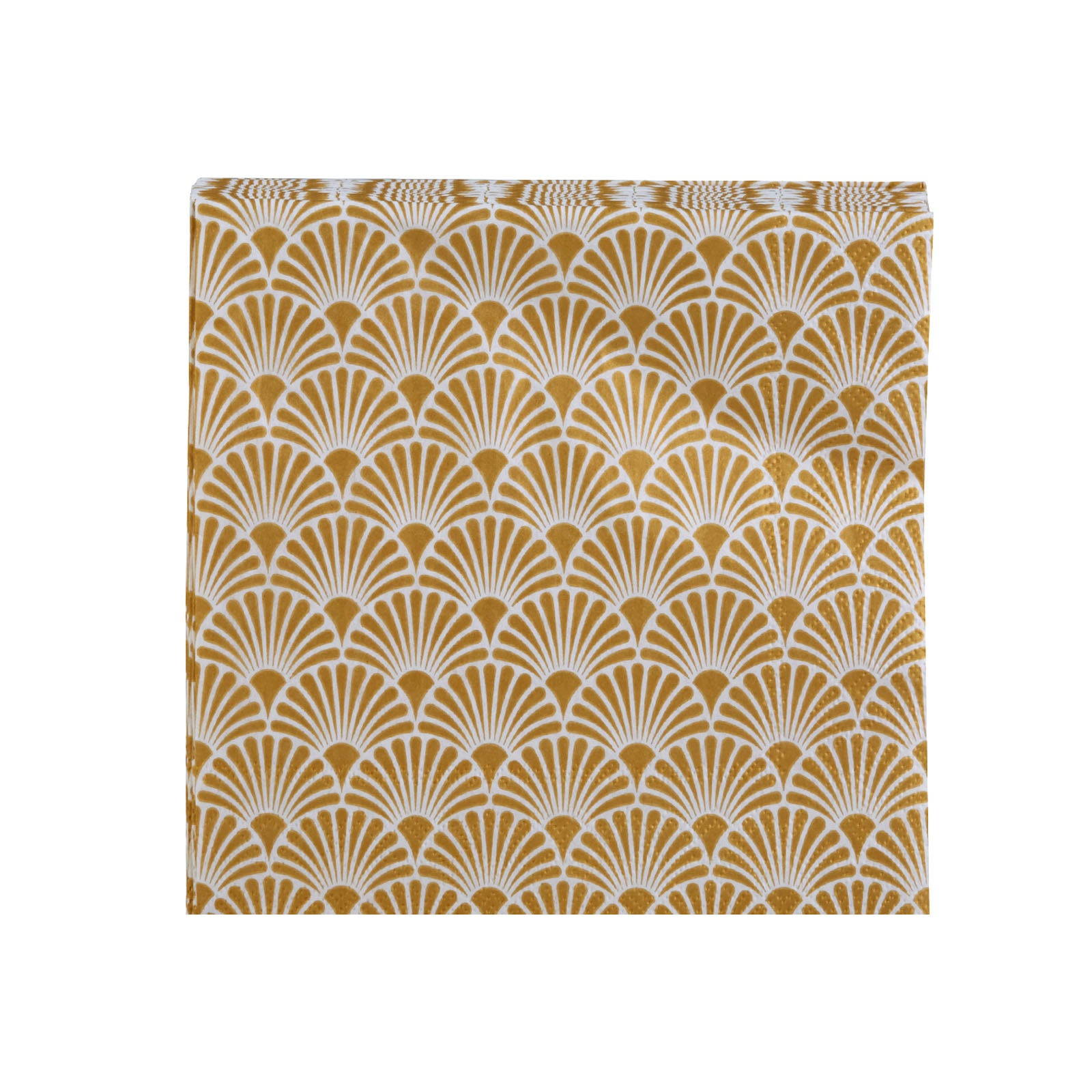 Karaca Art Deco Gold / White Napkin 153.19.01.1230