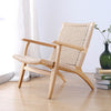 Solid Wood and Cord Lounge Chair  WS-086-N