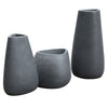Set of 3 outdoor/indoor Fiberglass concrete Planter box XK-8177A+B+C