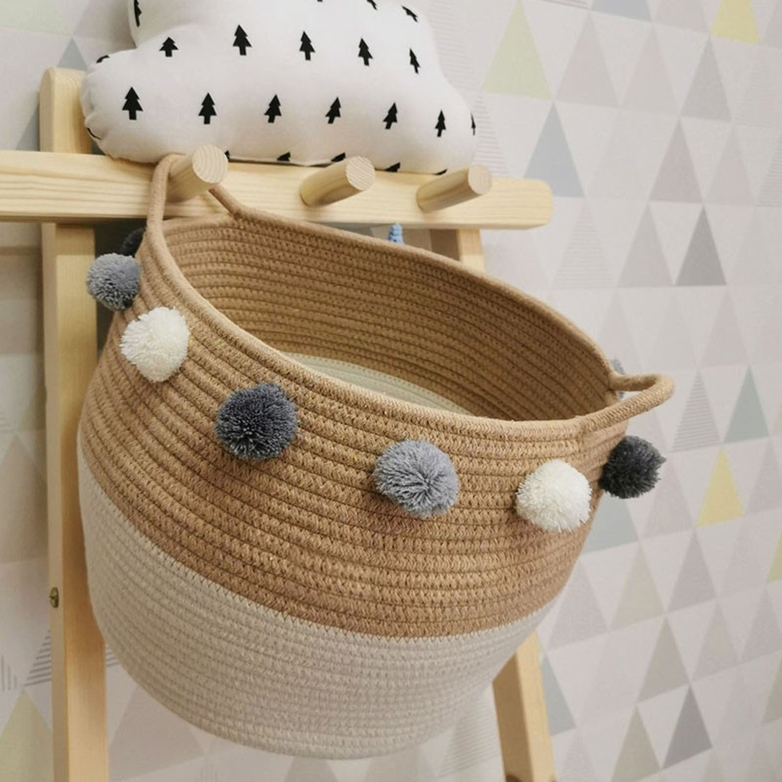 Handmade Basket 190410-015 -  سلة مصنوعة يدويا - Shop Online Furniture and Home Decor Store in Dubai, UAE at ebarza