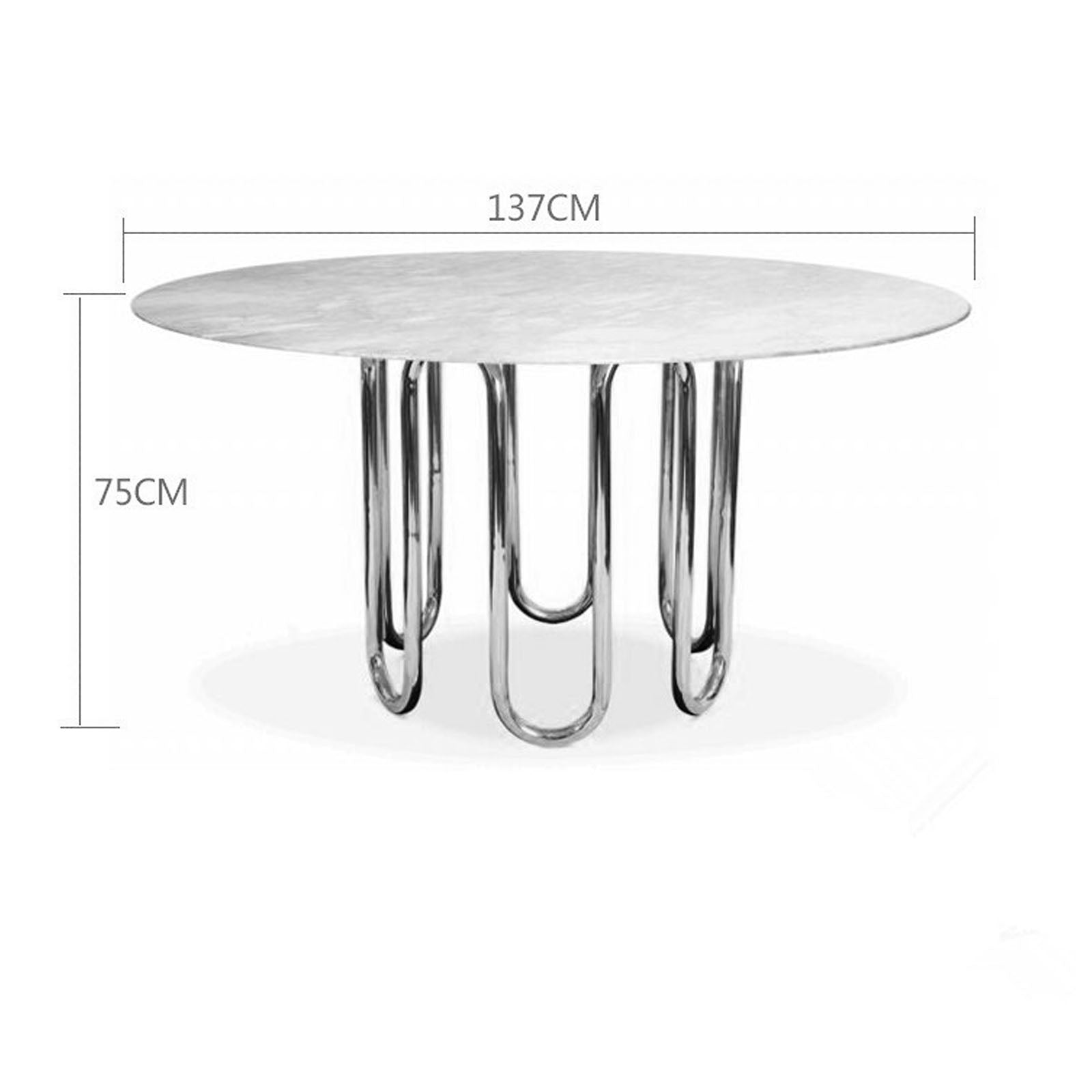 Crown Dining table with Faux  marble  TG-345-RG