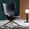 Biel  Lounge Chair LC031W- blackLeather