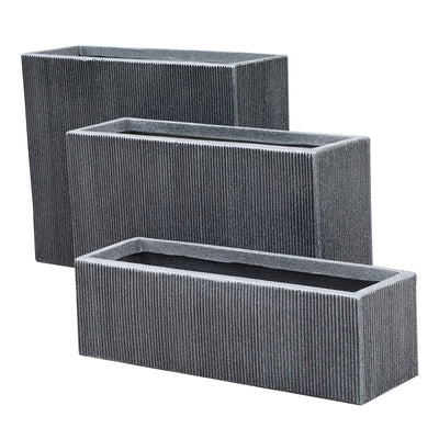 Set of 3 outdoor/indoor Fiberglass concrete Planter box XK-8302D+E+F