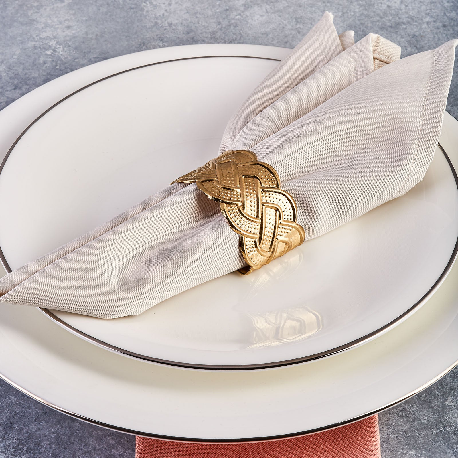Karaca Rope Gold 6-Piece Napkin Ring 153.19.01.1490