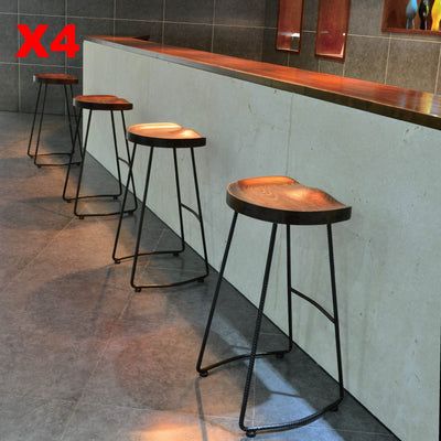 Solid Wood Bar Stool MC-034D - ebarza