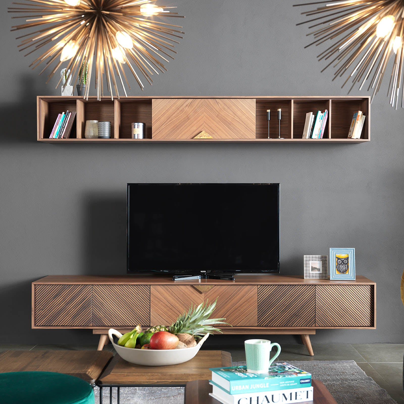 Florya TV Unit FLOR0099 -  طاولة تلفزيون فلوريا - Shop Online Furniture and Home Decor Store in Dubai, UAE at ebarza