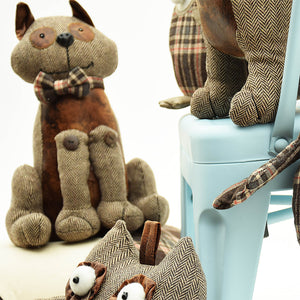 Handmade Cute Animal decorative Doll/Door stopper  T12078A