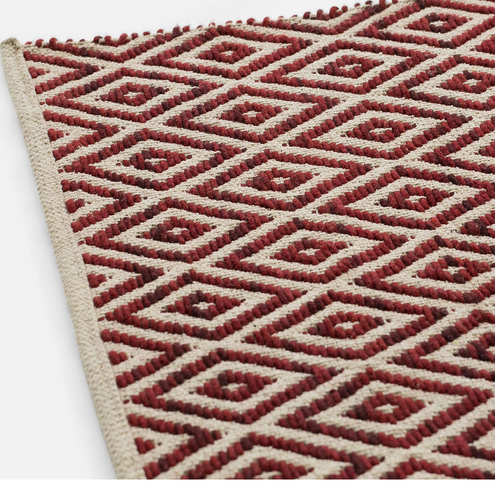 90x300  cm HANDMADE WOOL rug Caterina-Red-Long -  90x300 سجادة صوف صناعة يدوية سم - Shop Online Furniture and Home Decor Store in Dubai, UAE at ebarza