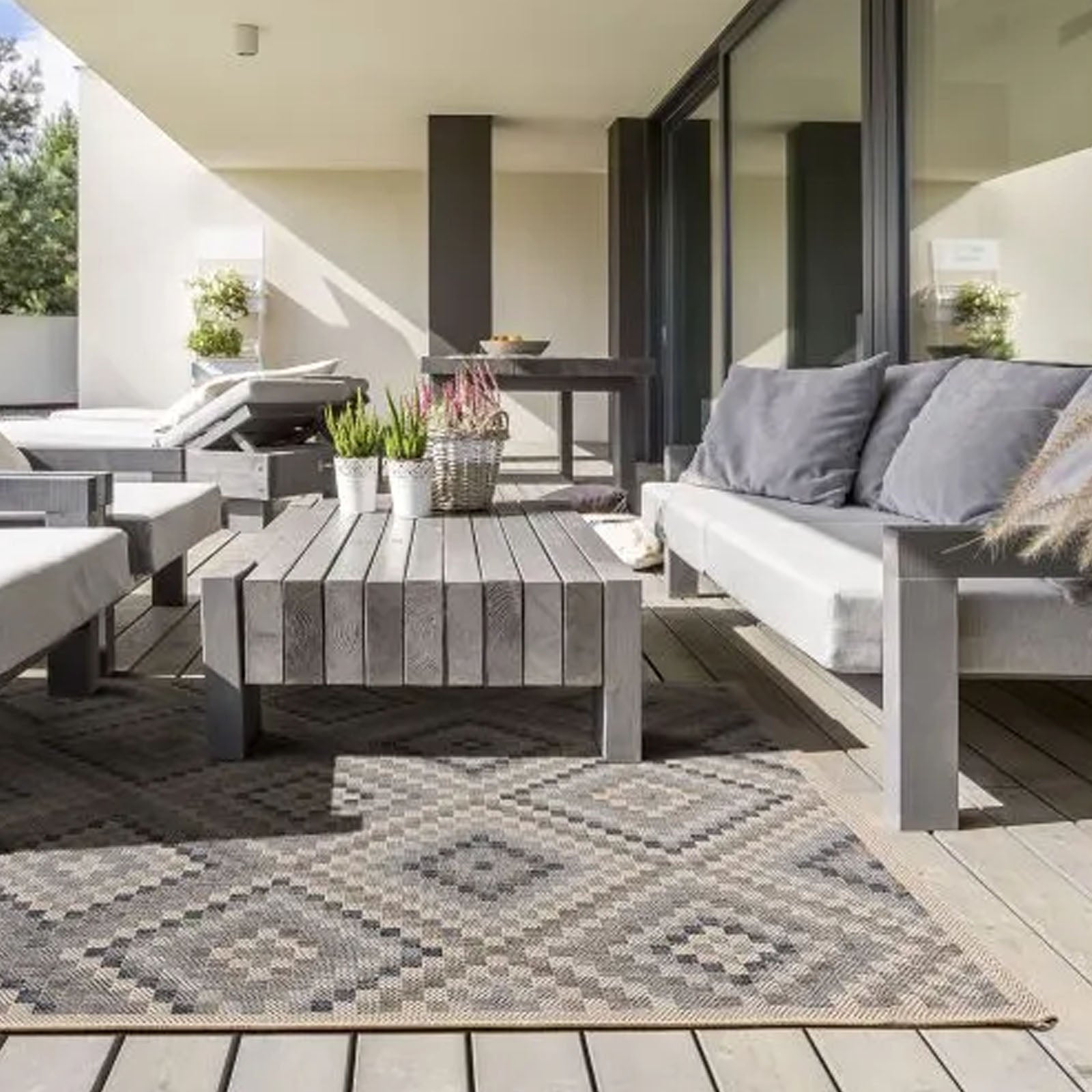 90X160 cm OUTDOOR/INDOOR RUG Simco-SIM-21-Beige-s - ebarza