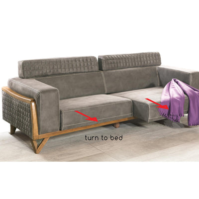 Pre-Order 50 Days Delivery  SIENA 3+3+1+1   Sofabed set  SIEN001 - ebarza