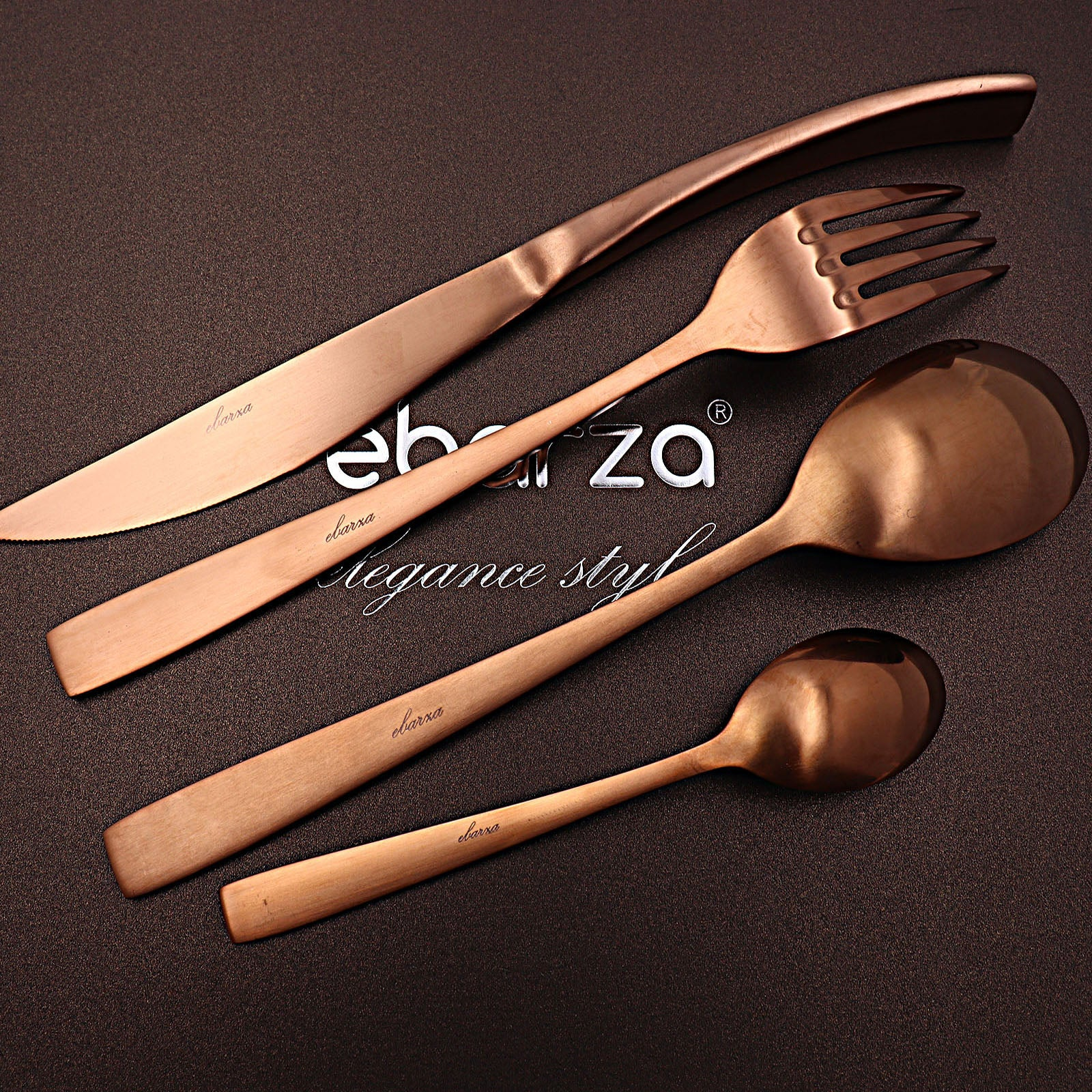 Set of 24 pieces  Tarn  Cutlery Set 6362C - ebarza