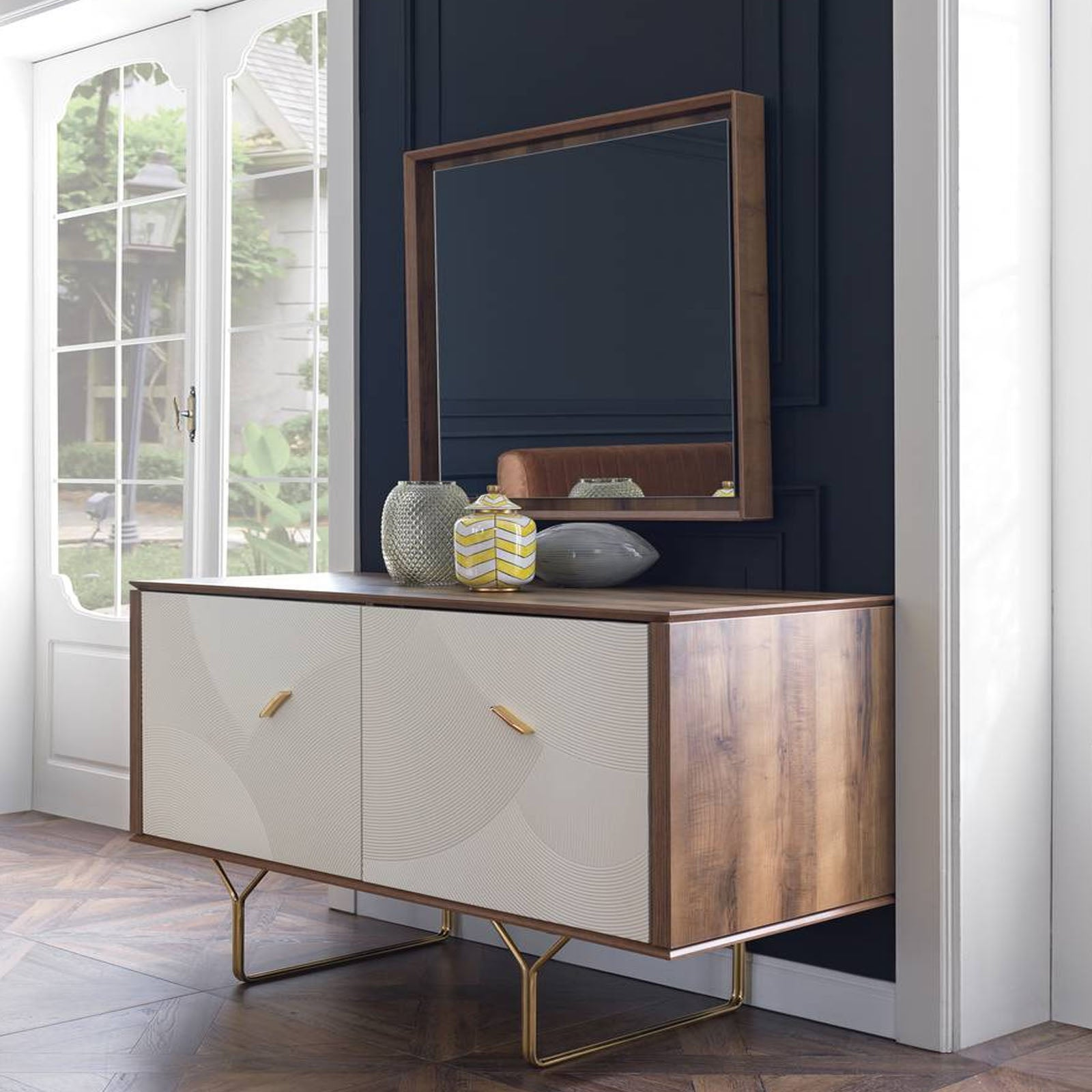 Pre-Order 25 days delivery PENA  Dresser+Mirror  PENA002-Dresser -  الطلب المسبق 25 يومًا تسليم بينا مضمد + مرآة - Shop Online Furniture and Home Decor Store in Dubai, UAE at ebarza