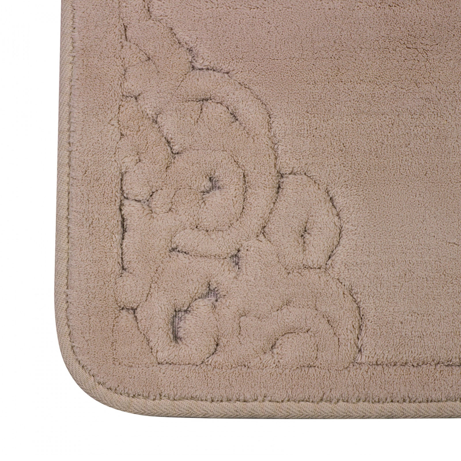 Damila Beige 2 Piece Bath Mat 200.15.01.0265 -  سجادة حمام داميلا قطعتين بيج - Shop Online Furniture and Home Decor Store in Dubai, UAE at ebarza