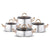 Karaca Zeyna 8 Piece Steel Cookware Set Gold 153.03.02.0129 - ebarza