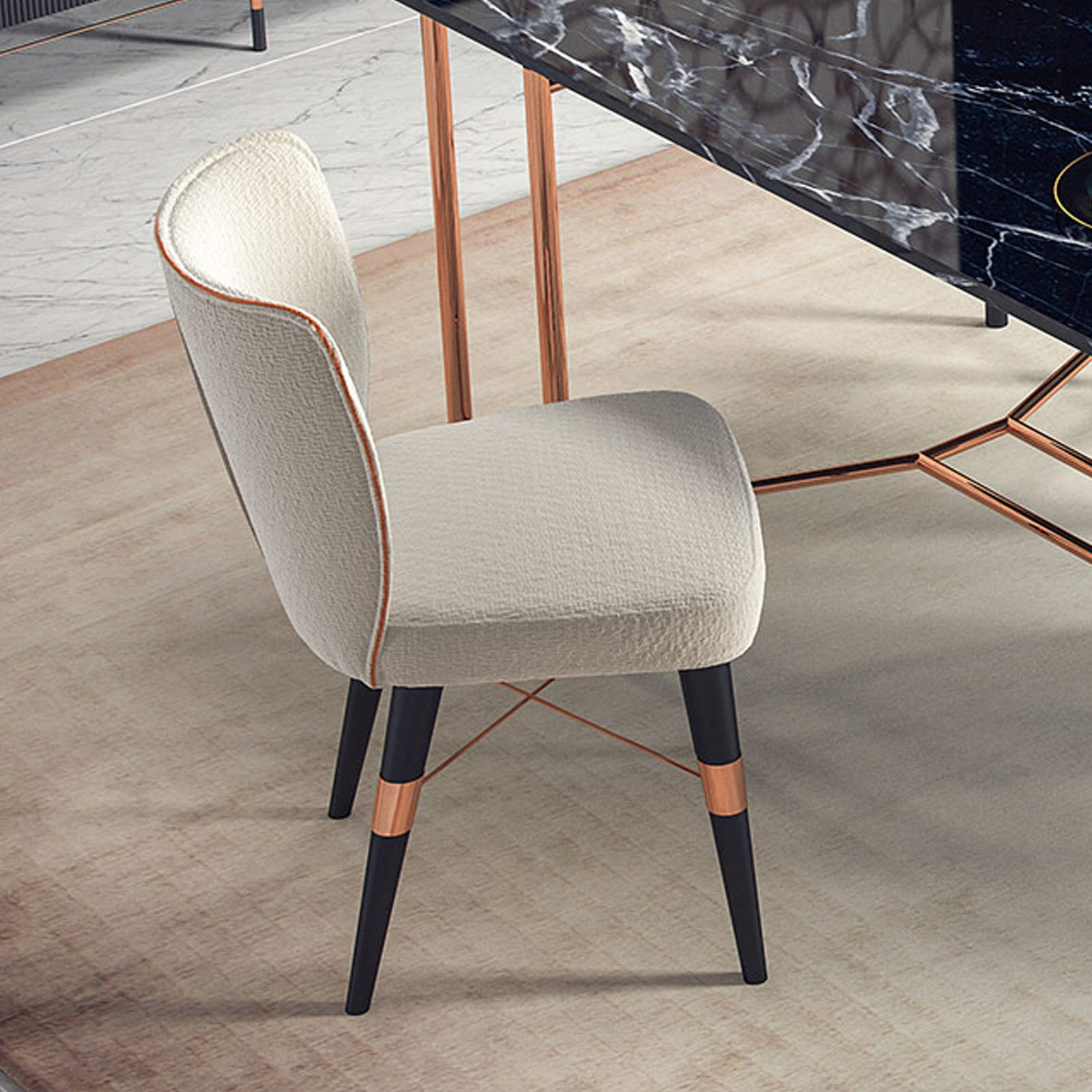 Pre-Order 40 days delivery Dali Chair Beige  Dali-W -  اطلب مسبقًا 60 يومًا توصيل كرسي بتصميم دالي بلون البيج - Shop Online Furniture and Home Decor Store in Dubai, UAE at ebarza