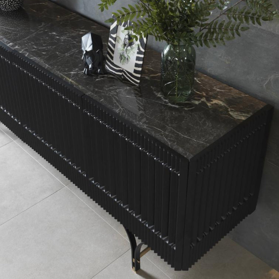 Hedra Sideboard with natural marble top    Hedra001