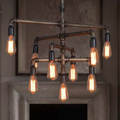 9 heads Vintage Industrial Pipes pendant  Lamp  CY-DD-188 - ebarza