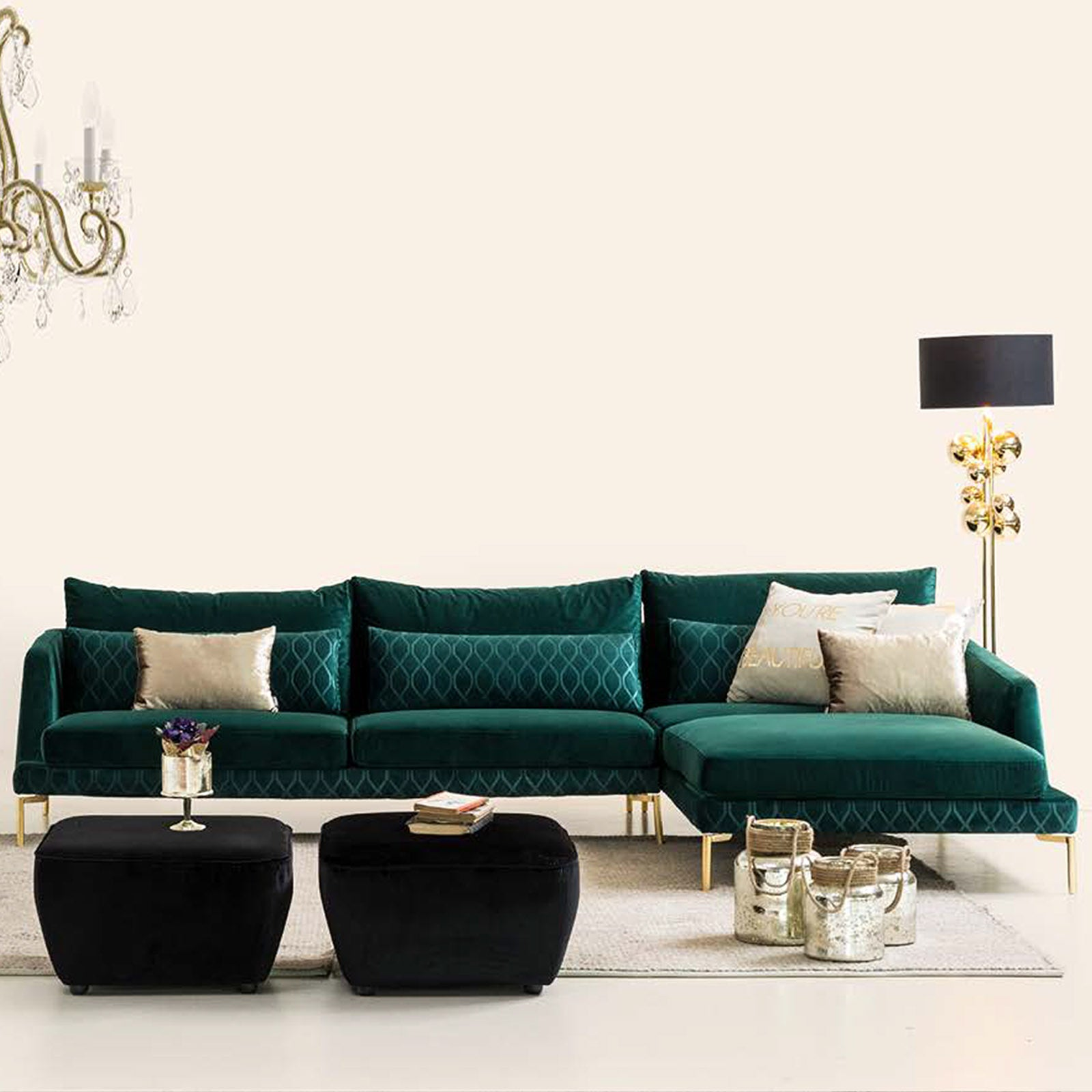 Anzio Corner  Sofa Set ANZEO50 CAPTOWN 18 -  طقم كنب زاوية من أنزيو - Shop Online Furniture and Home Decor Store in Dubai, UAE at ebarza