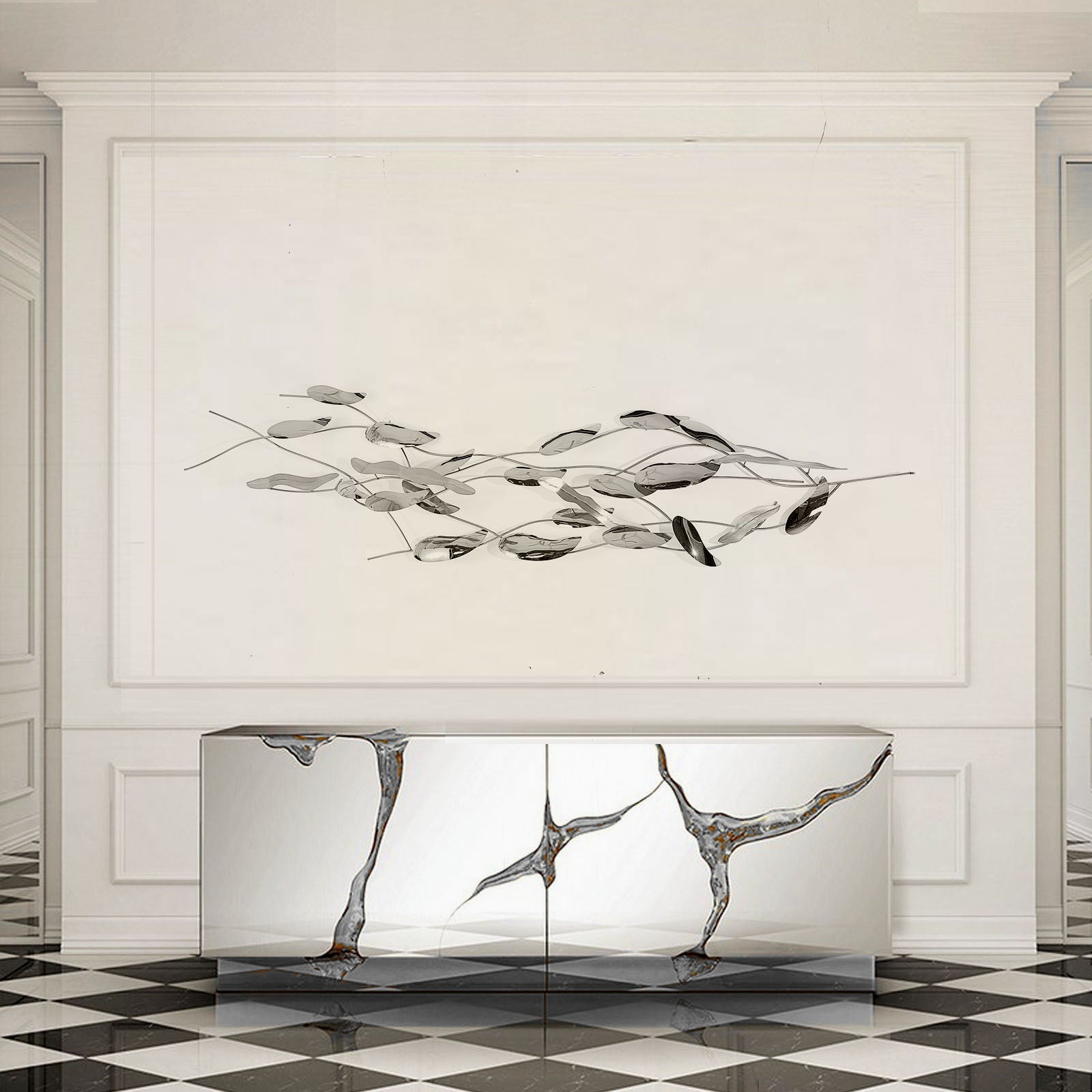 Handcrafted Stainless steel  Artwork  Z08022-C - ebarza