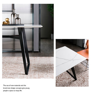Black Jack  quartz Dinning Table  DT001