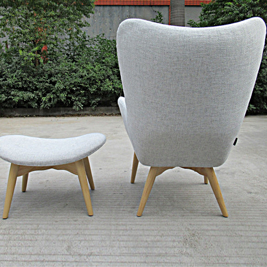 Lounge Chair and Ottoman BP8125-Gr - ebarza