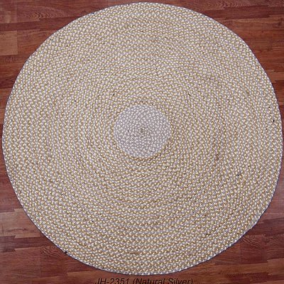 Pre-Order 35 days Delivery  150cm Braided Round handmade Wool Rug JH-2351-L