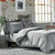 Karaca Home Charm Bold Gray Satin Double Duvet Cover Set 200.16.01.0064 -  طقم غطاء لحاف مزدوج من الساتان باللون الرمادي الغامق من كاراجا - Shop Online Furniture and Home Decor Store in Dubai, UAE at ebarza