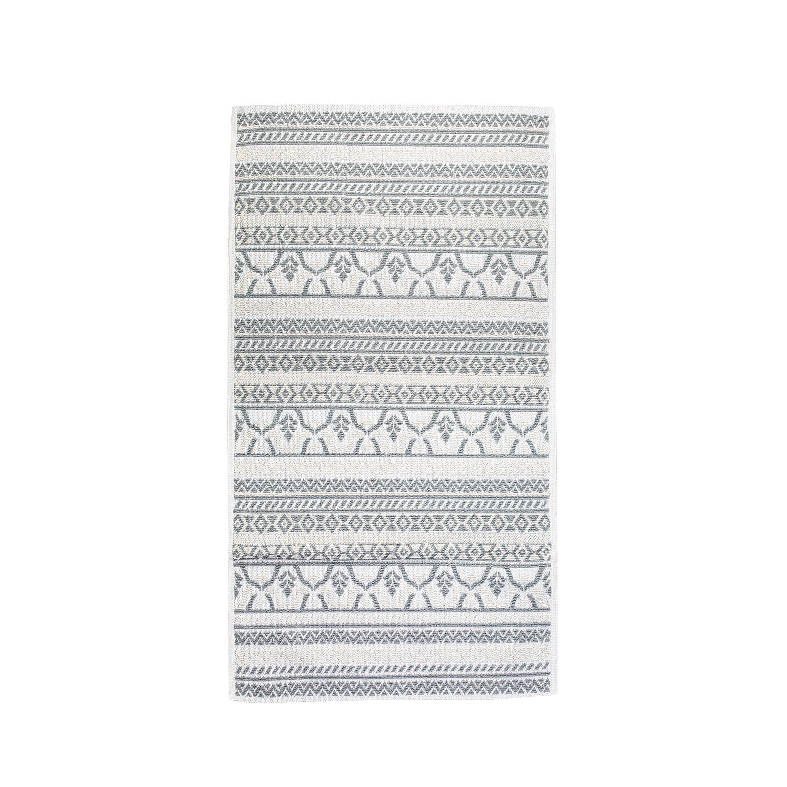 Karaca Home Morocco 80x150 cm Ecru-Gray Kilim 201.17.01.0074 -  كاراجا هوم المغرب 80× 150 سم سجادة رمادية - Shop Online Furniture and Home Decor Store in Dubai, UAE at ebarza