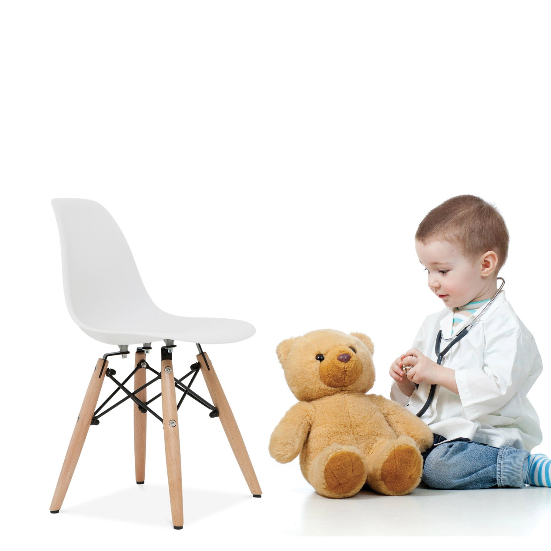 Kids Chair -Plastic- MSK0055W PC-0117W-W -  كرسي اطفال - بلاستيك - Shop Online Furniture and Home Decor Store in Dubai, UAE at ebarza