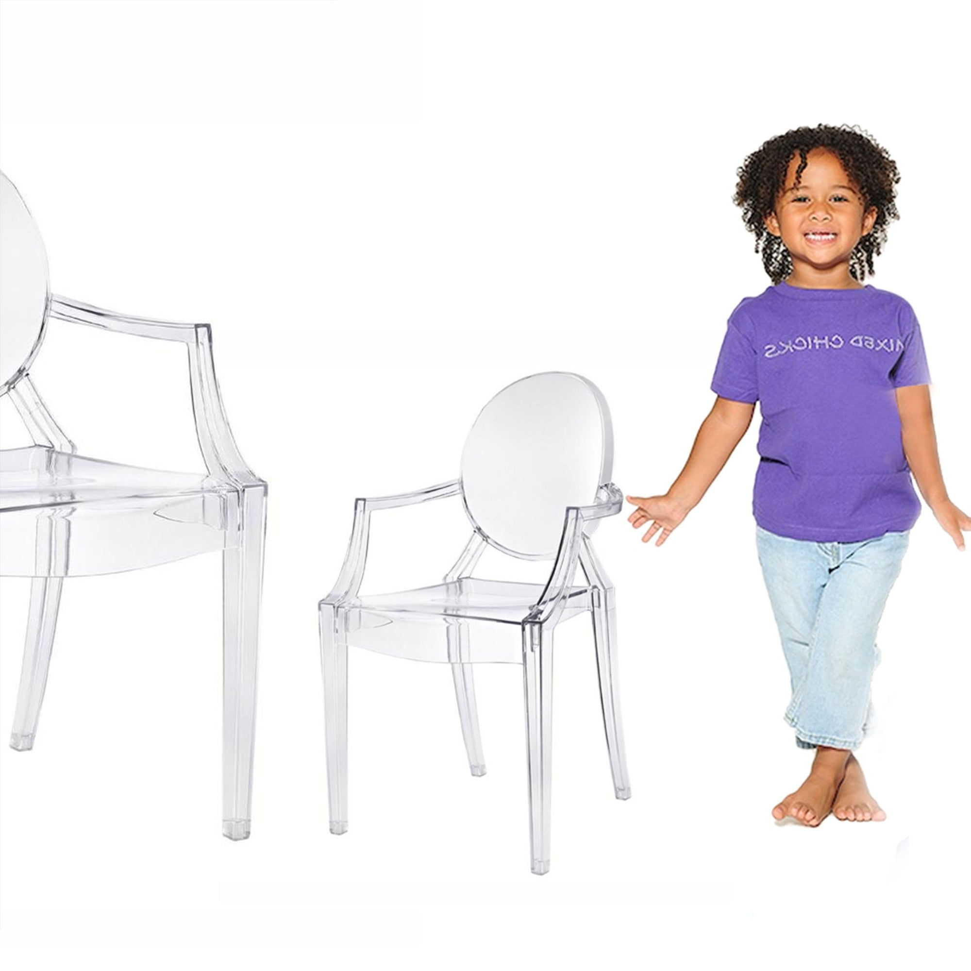 Pre-order 60 days delivery Kids Chair-Acrylic-KGTK006 - ebarza