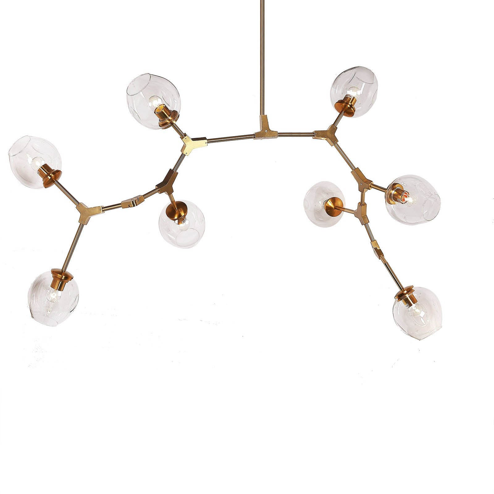Branch 8 bubble Chandelier  ZY-3136-9-G  CY-DD-275-8-G -  ثريا ذو 8 مصابيح على شكل فقاعات - Shop Online Furniture and Home Decor Store in Dubai, UAE at ebarza