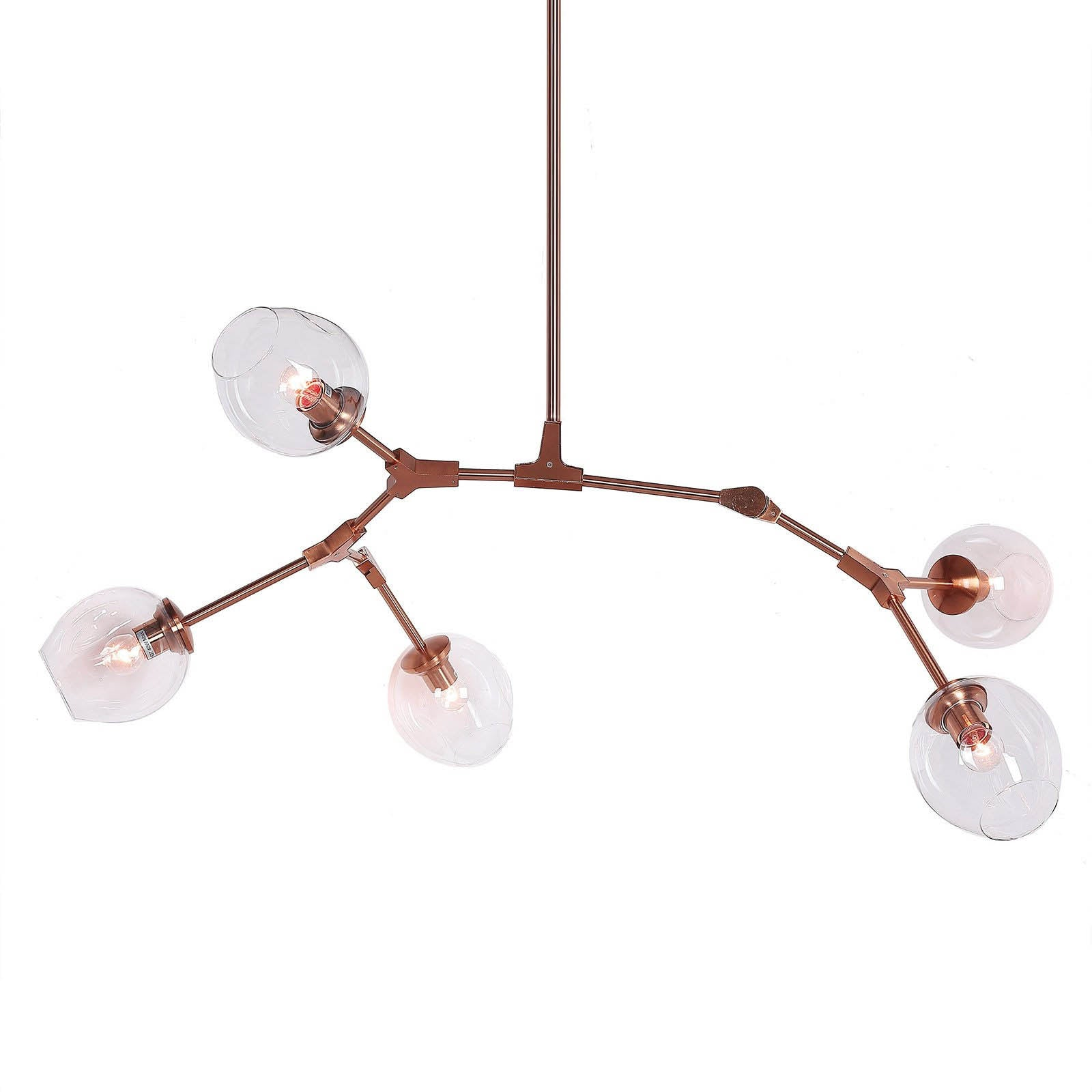 Branch 5 bubble Chandelier  CY-DD-275-5RG -  ثريا ذو 5 رؤوس - Shop Online Furniture and Home Decor Store in Dubai, UAE at ebarza