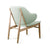 Lounge  Chair with Solid ash wood base BP8131-GRN - ebarza