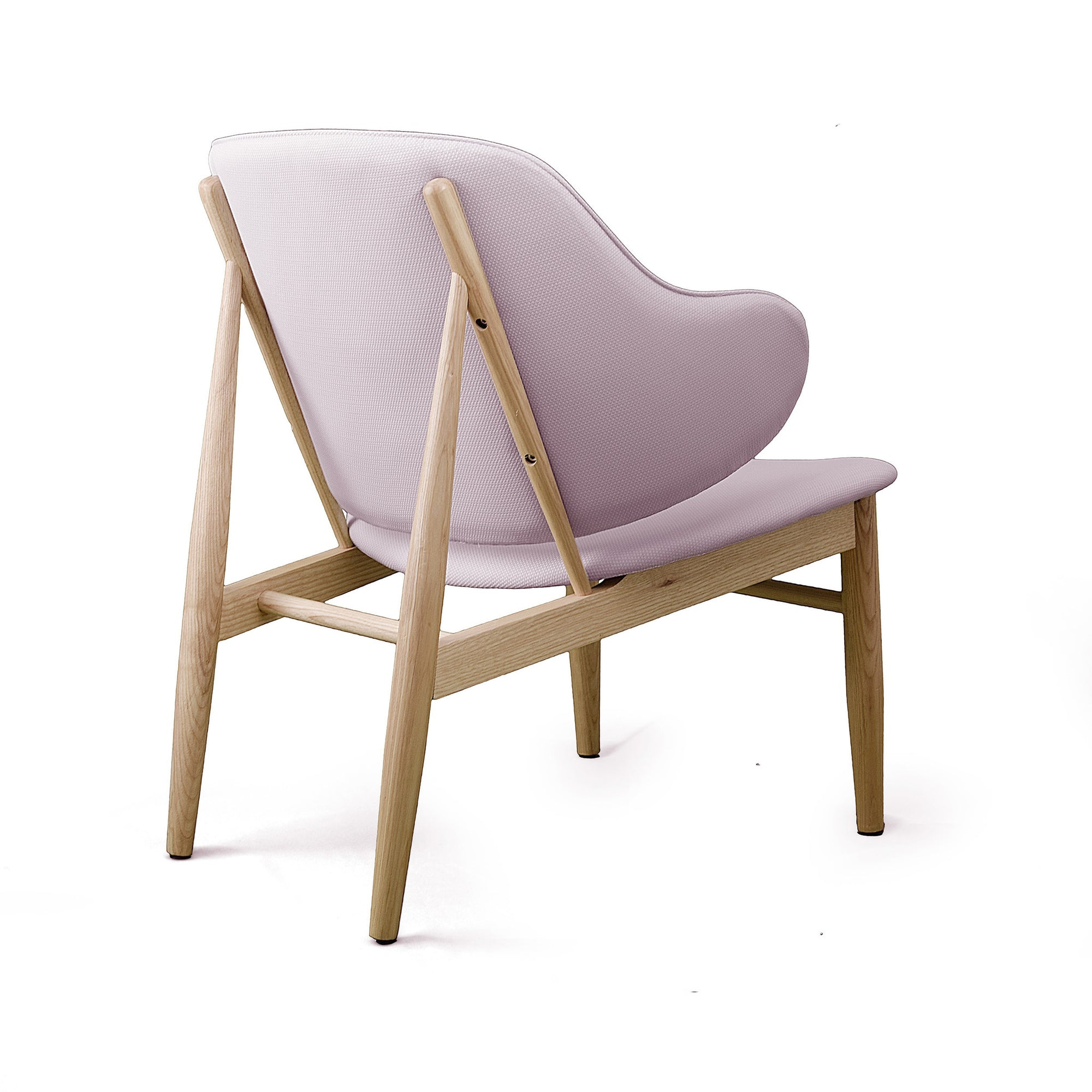 Lounge  Chair with Solid ash wood base BP8131-PNK - ebarza