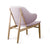 Copy of Lounge  Chair with Solid ash wood base BP8131-PNK
