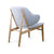 Lounge  Chair with Solid ash wood base BP8131-PUR