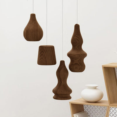Set of 4 Arco Solid Wood pendant lamp BPMT10-W - ebarza