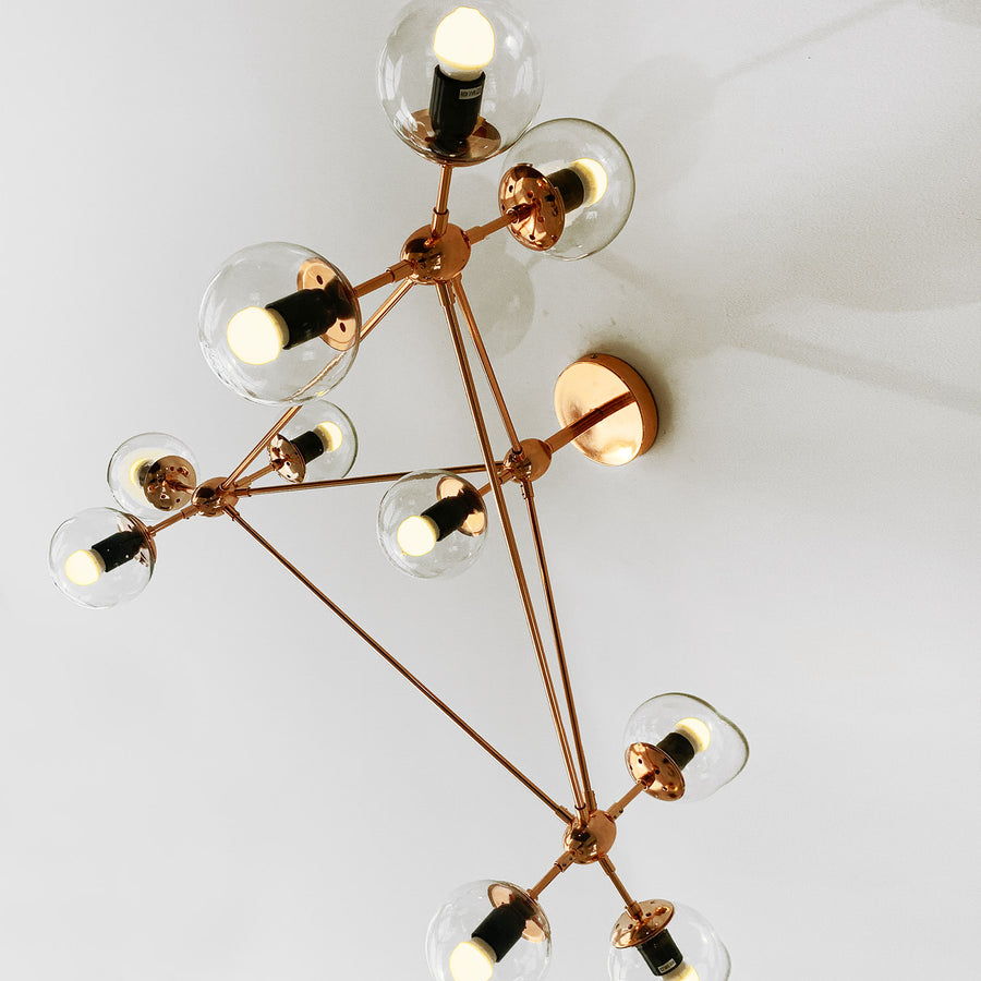 Vintage 10 Heads  Bubble  Chandelier  CY-DD-309-10-G