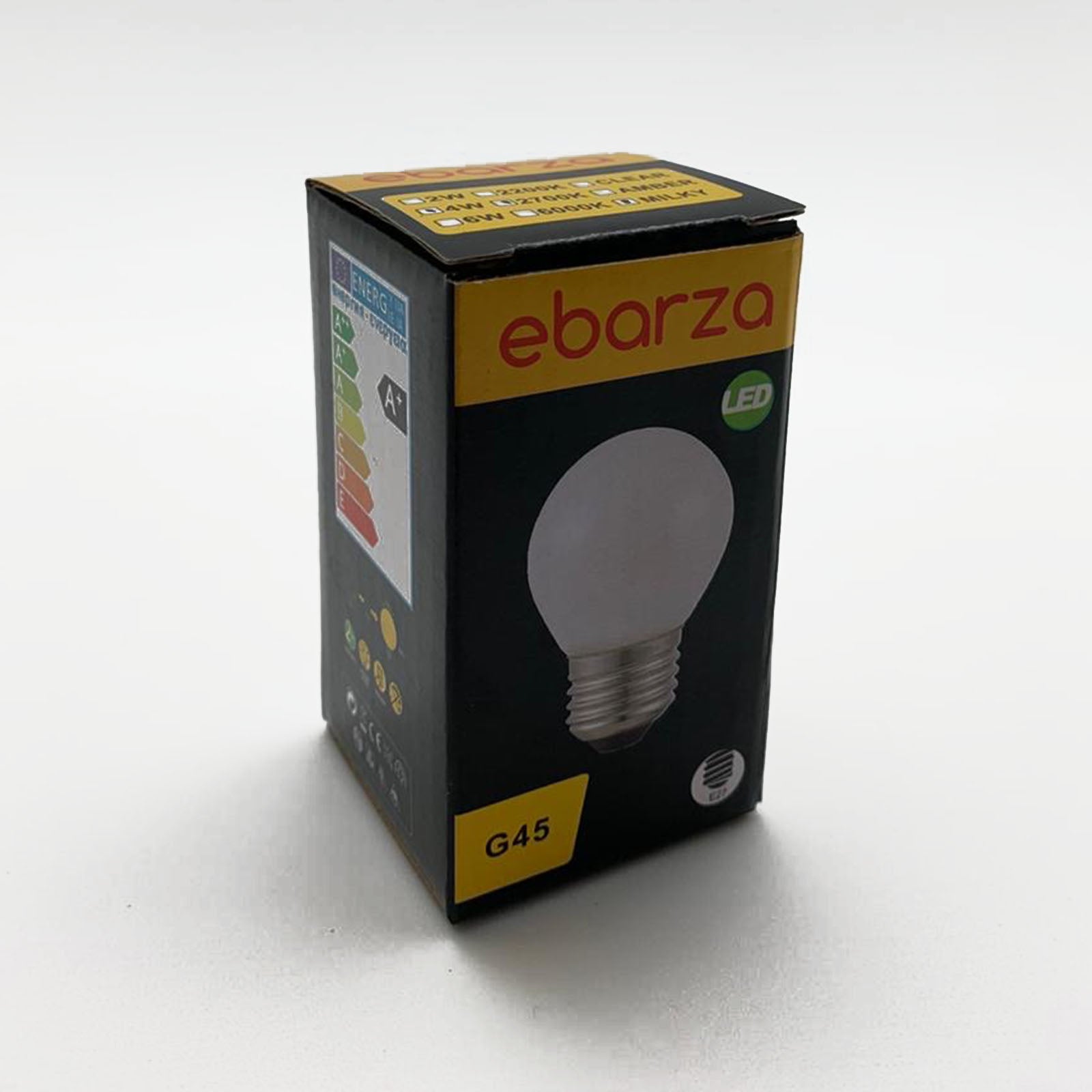 Set of 6 LED E27 Vintage bulbs G45 IVORY
